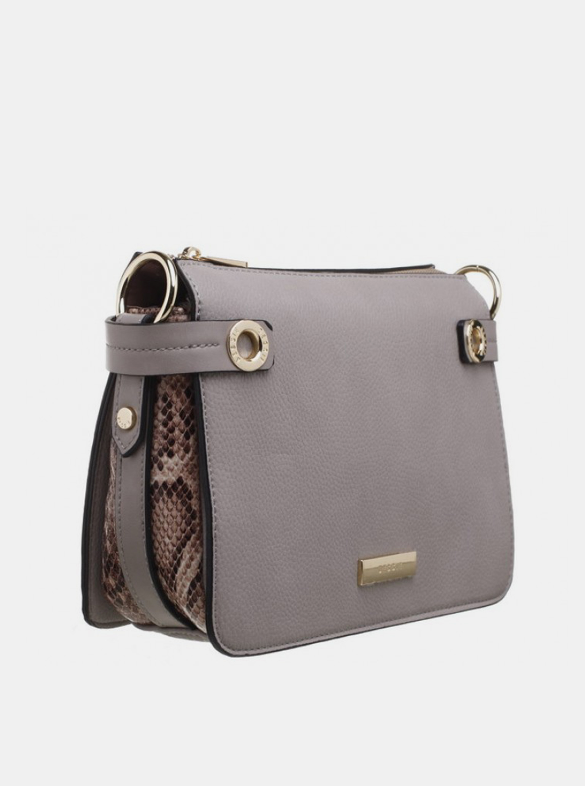 Siva torbica Crossbody Bessie London